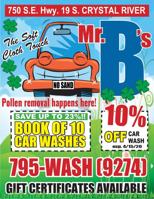 Mr B's Car Wash 3.2020JK 01